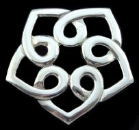 Pentagonal Knotwork Pewter Brooch